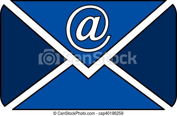 Mail button on white. - csp40196259