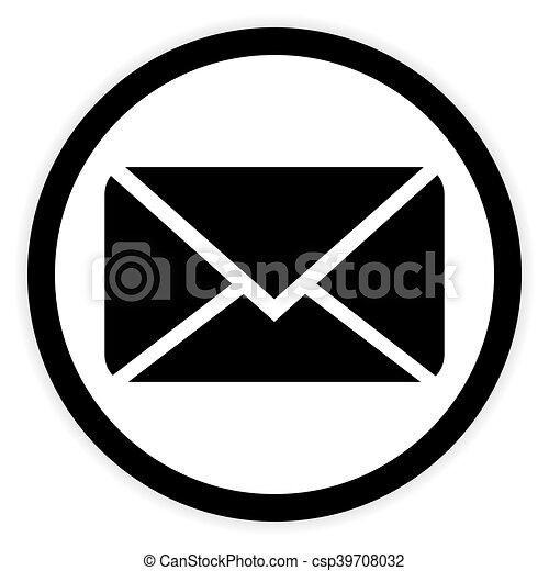 Mail button on white. - csp39708032