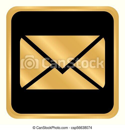 Mail button on white. - csp56638074