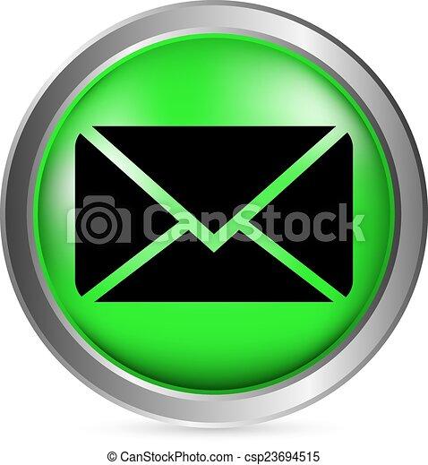 Mail button - csp23694515