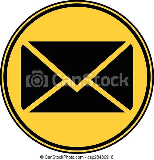 Mail button. - csp28486918