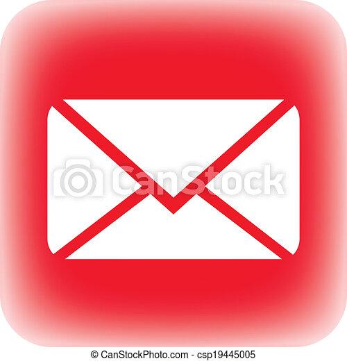 Mail button - csp19445005