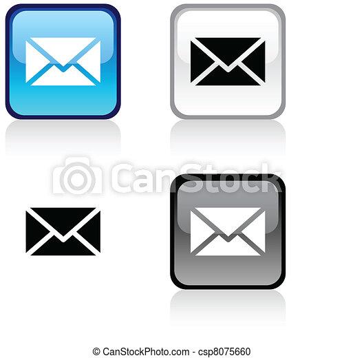 mail button. - csp8075660