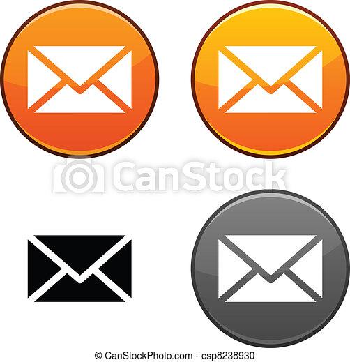 mail button. - csp8238930