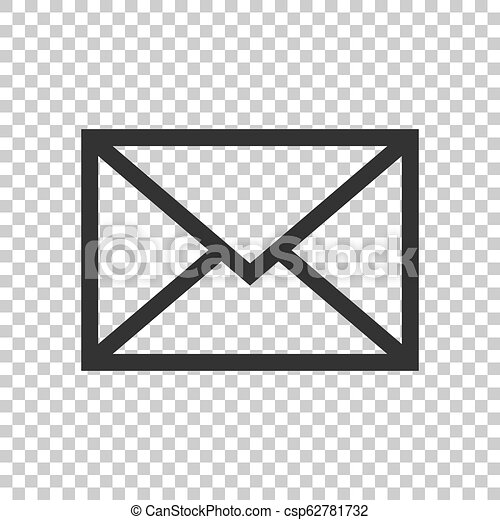 Mail envelope icon in flat style. Email message vector illustration on isolated background. Mailbox e-mail business concept. - csp62781732