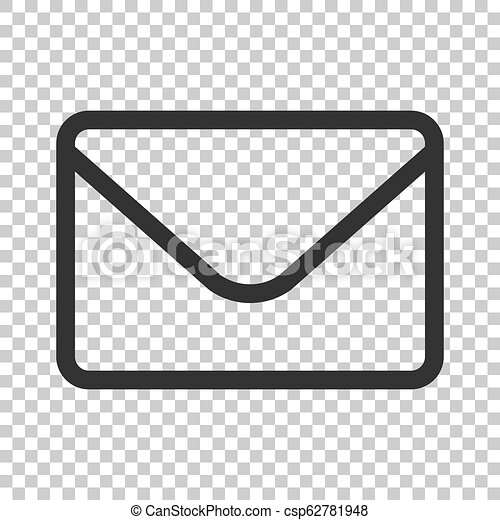 Mail envelope icon in flat style. Receive email letter spam vector illustration on isolated background. Mail communication business concept. - csp62781948
