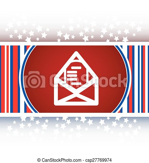 mail envelope icon web button isolated on white - csp27769974