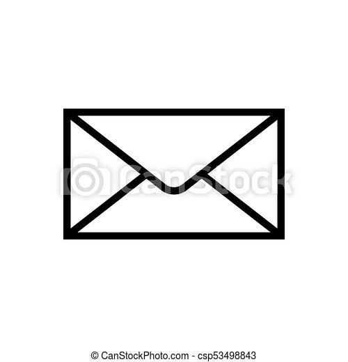 Mail icon isolated isolated on white background - csp53498843