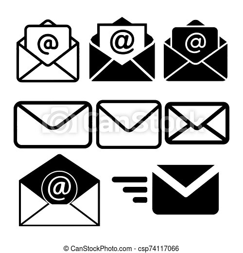 Mail icon isolated on White Background Vector illustration - csp74117066