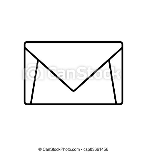 Mail icon isolated on white background - csp83661456