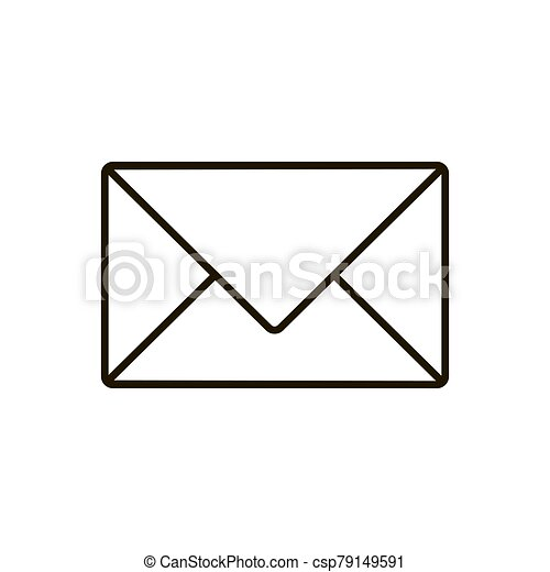 Mail icon isolated on white background. Vector illustration - csp79149591