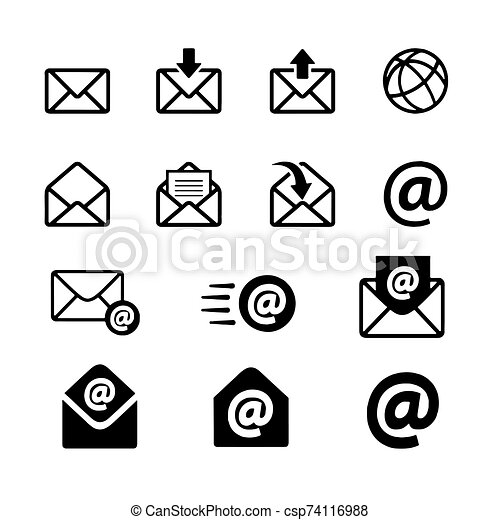 Mail icon isolated on White Background Vector illustration - csp74116988