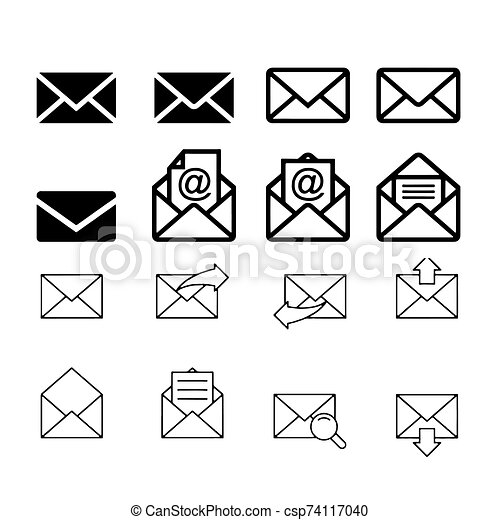 Mail icon isolated on White Background Vector illustration - csp74117040
