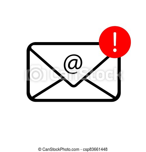 Mail icon isolated on white background - csp83661448