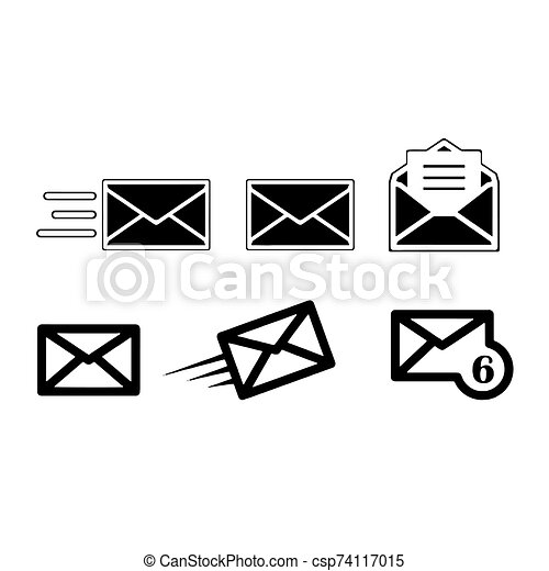 Mail icon isolated on White Background Vector illustration - csp74117015