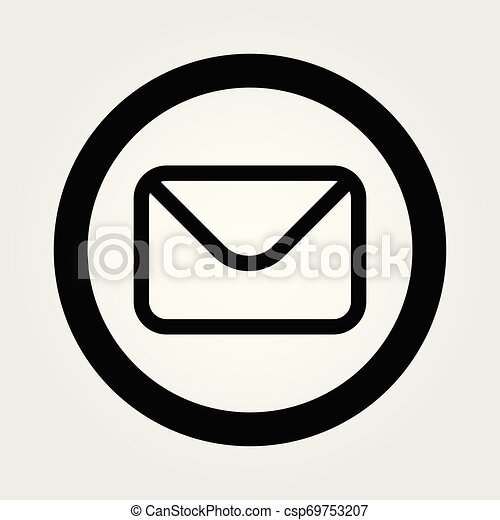 Mail icon isolated on white background. Vector illustration - csp69753207