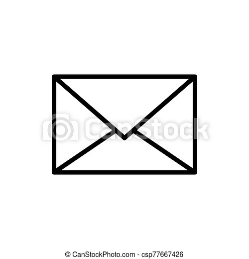 Mail icon vector isolated on white background - csp77667426