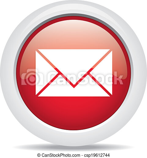 mail isolated on white background - csp19612744