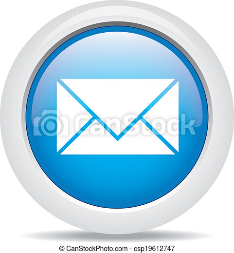 mail isolated on white background - csp19612747