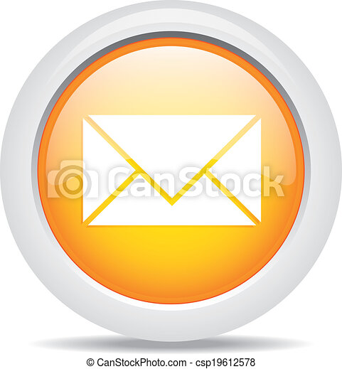 mail isolated on white background - csp19612578