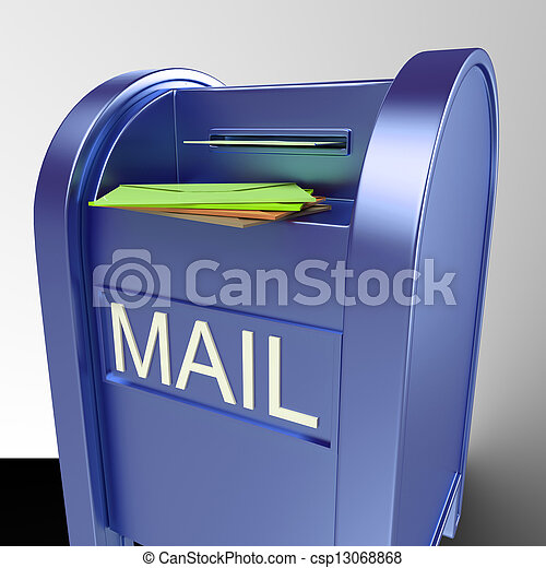 Mail On Mailbox Showing Delivered Correspondence - csp13068868