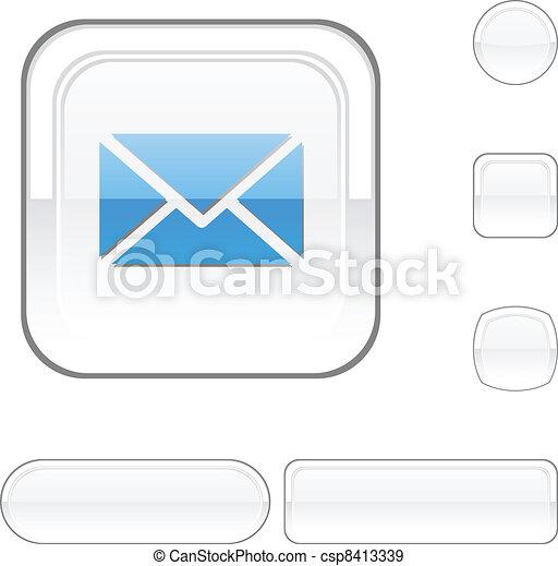 mail white button. - csp8413339