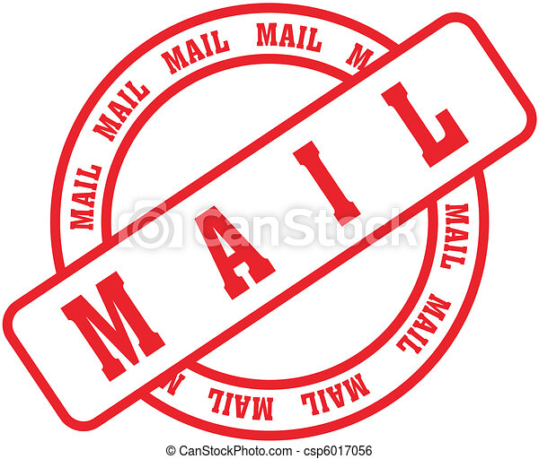 mail word stamp3 - csp6017056