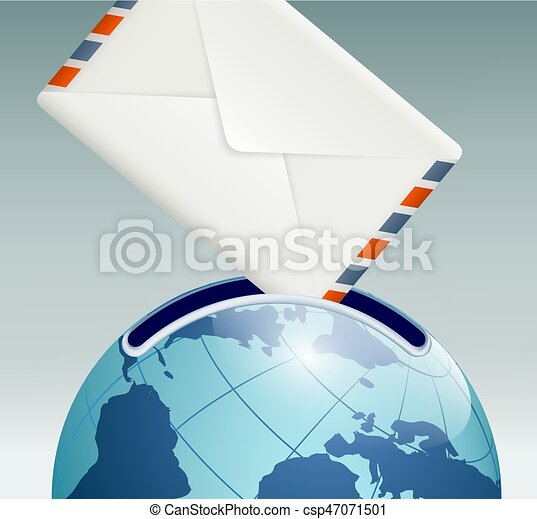 mailbox in the form of planet earth - csp47071501