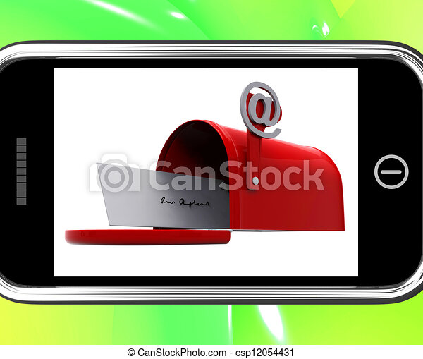 Mailbox On Smartphone Showing Email Inbox - csp12054431