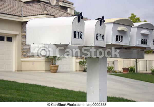 Mailbox Row - csp0000883