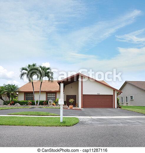 Mailbox Suburban Home - csp11287116