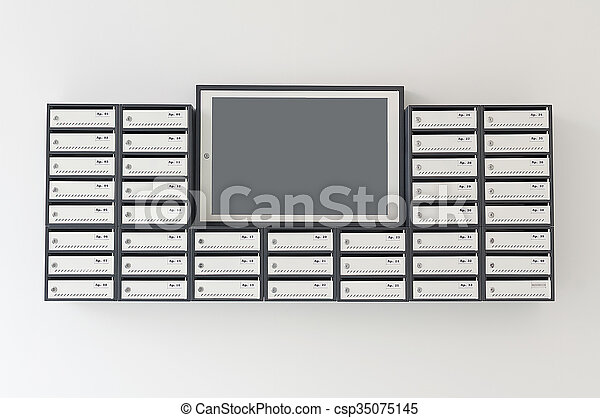 Mailboxes for apartment building
