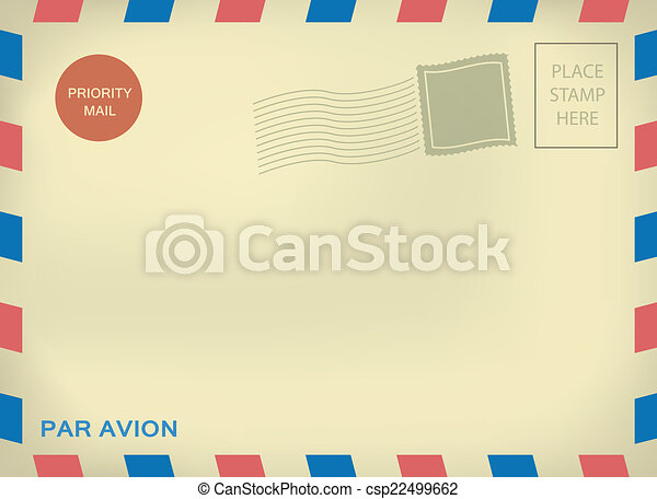 Mailing envelope par avion - csp22499662