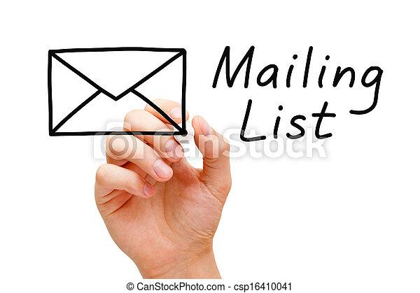 Mailing List Concept - csp16410041