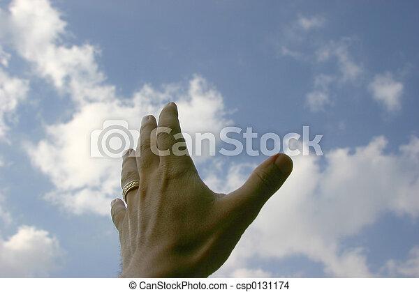 main, atteindre - csp0131174
