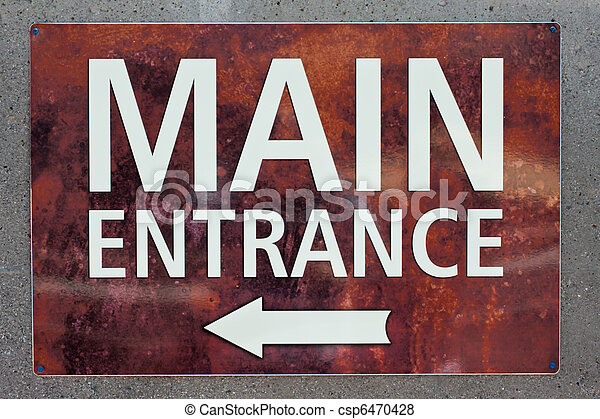 Main Entrance Sign Granite Marble Sign With Arrow To The