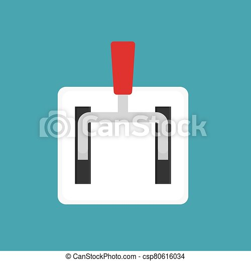 main power industry switch- vector illustration - csp80616034