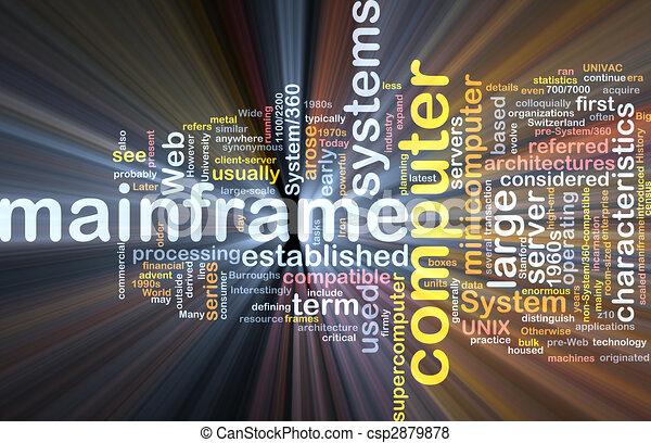 Mainframe word cloud box package - csp2879878