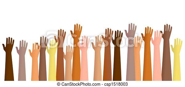 mains élevées - csp1518003