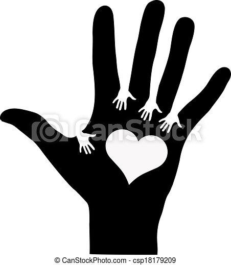 mains atteindre, autre, chaque - csp18179209