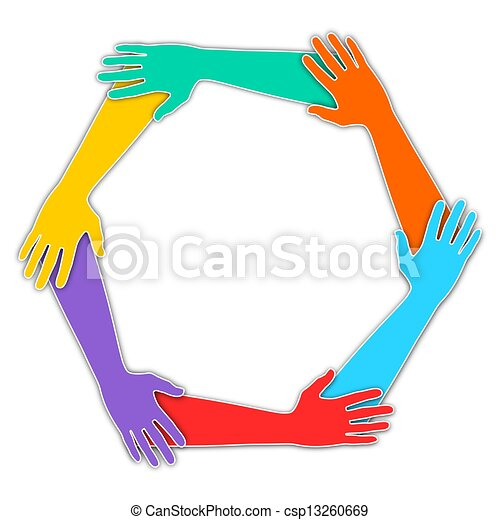 mains jointes - csp13260669