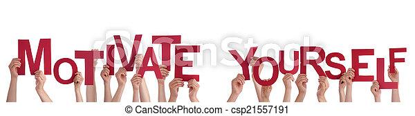 mains, motiver, tenue, vous-même - csp21557191