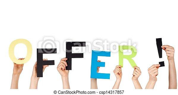 mains, tenue, offre - csp14317857