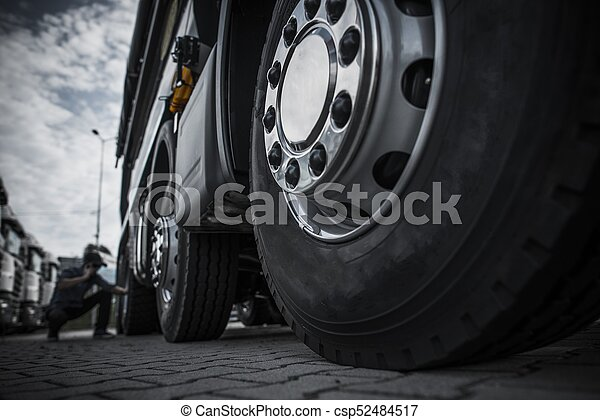 Semi Truck Tires Near Me >> Maintaining Semi Truck Tires Concept Photo Trucking Industry