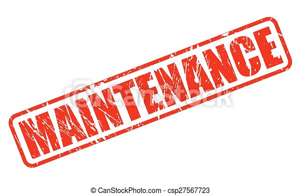 Maintenance red stamp text - csp27567723