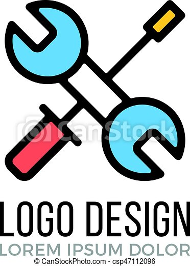 maintenance repair logo design concept crossed wrench and rh canstockphoto ca maintenance logos pics maintenance logo png