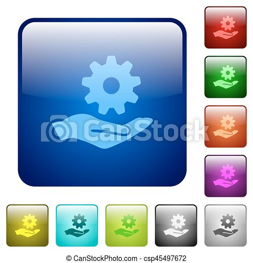 Maintenance service color square buttons - csp45497672