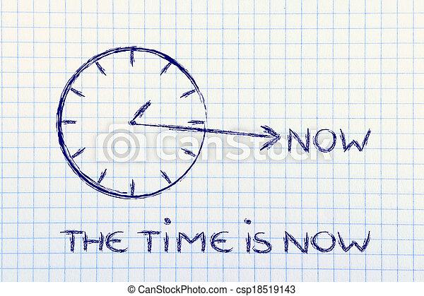 maintenant, temps - csp18519143
