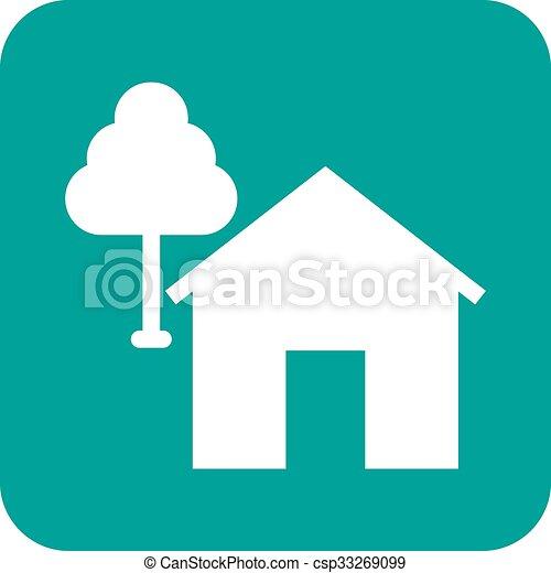 maison, arbre - csp33269099