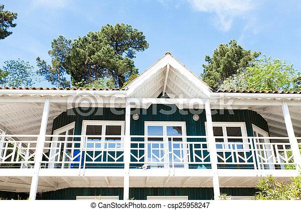 Maison Arcachon Village Bassin Herbe Typique
